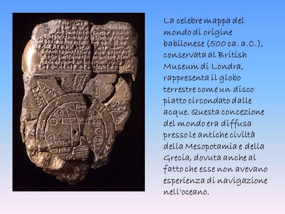 La celebre mappa del mondo di origine babilonese (500 ca. a. C