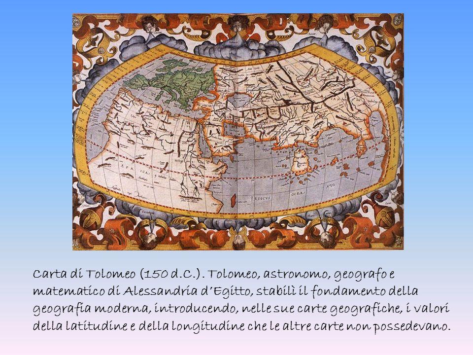 Carta di Tolomeo (150 d.C.).