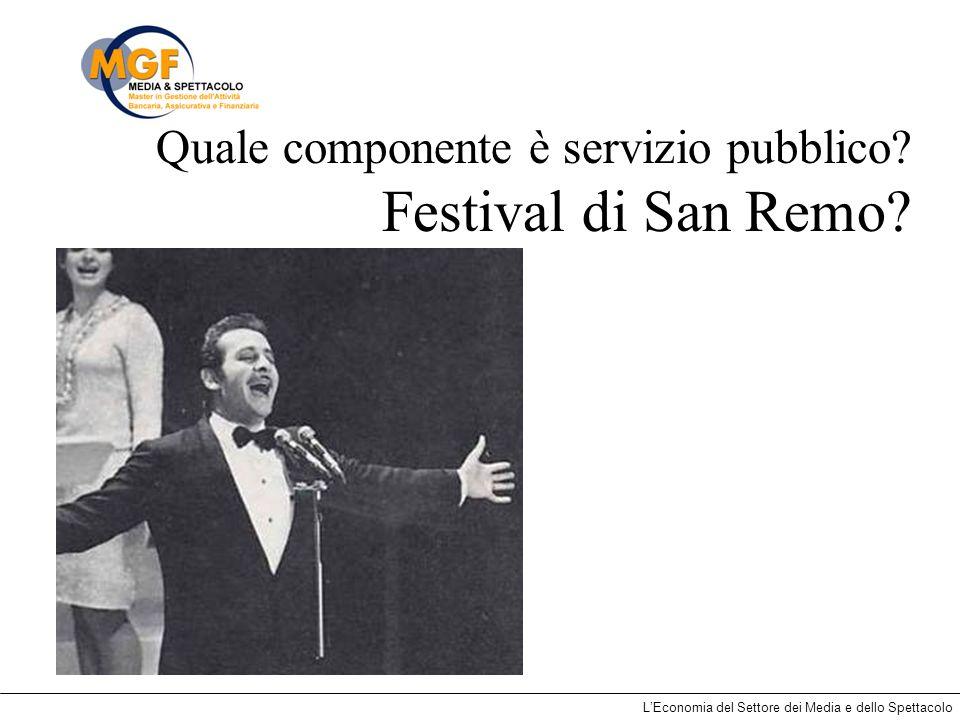 Quale componente è servizio pubblico Festival di San Remo