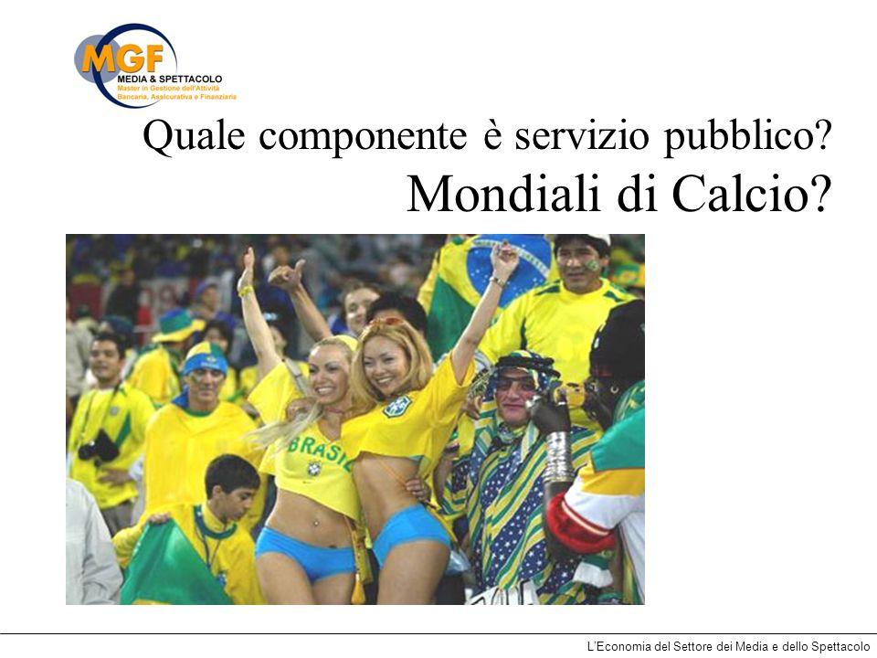 Quale componente è servizio pubblico Mondiali di Calcio