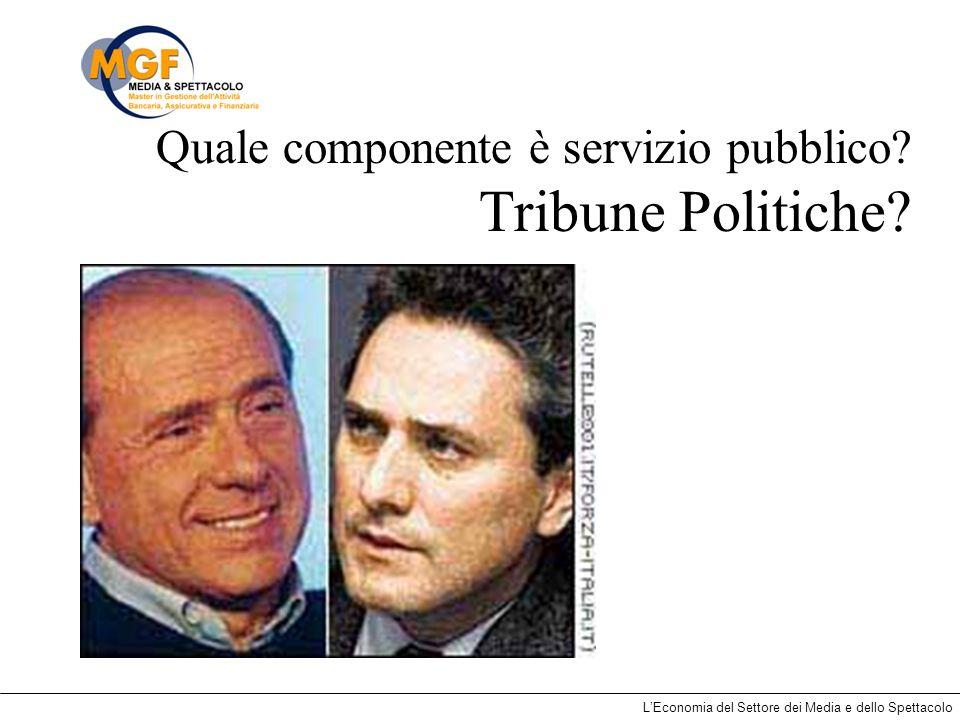 Quale componente è servizio pubblico Tribune Politiche