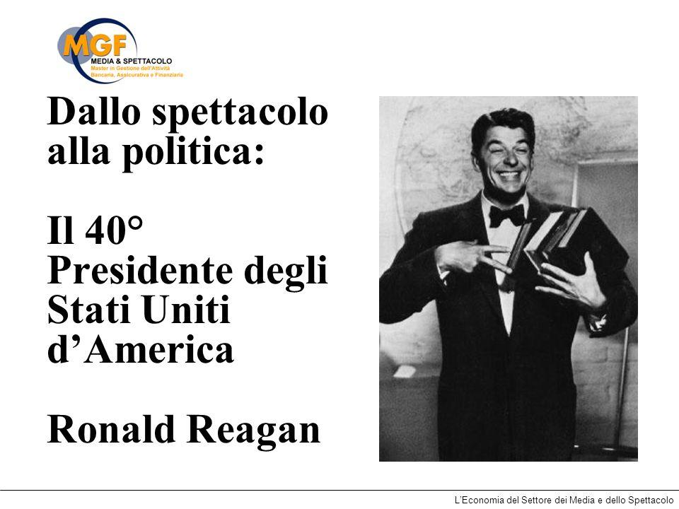 Dallo spettacolo alla politica: Il 40° Presidente degli Stati Uniti d'America Ronald Reagan