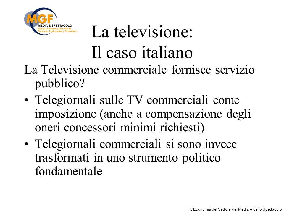 La televisione: Il caso italiano