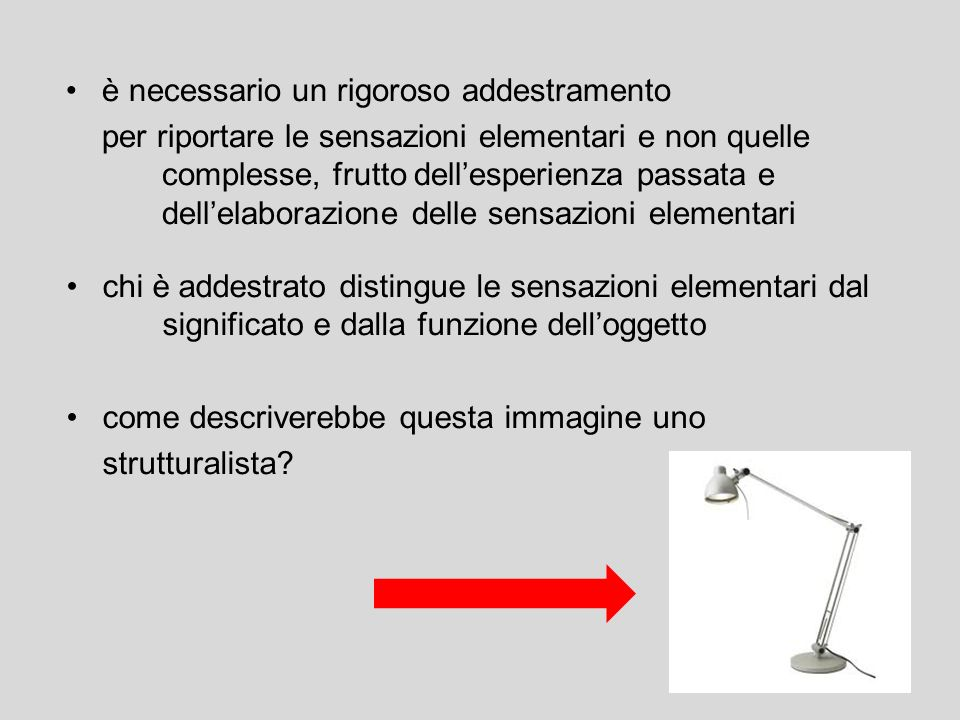 è necessario un rigoroso addestramento