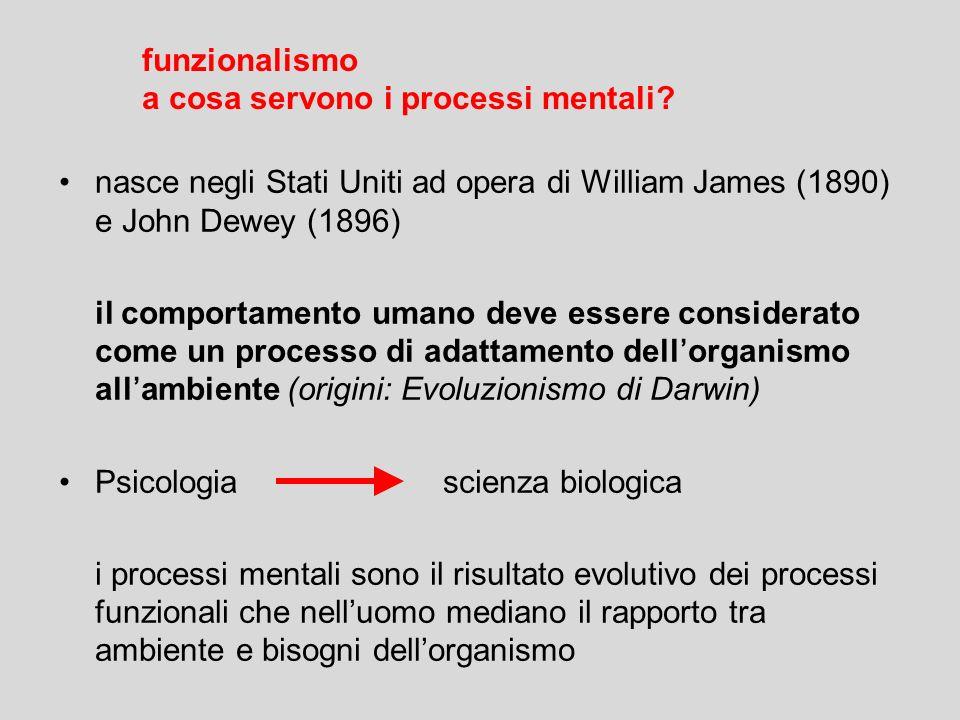 funzionalismo a cosa servono i processi mentali