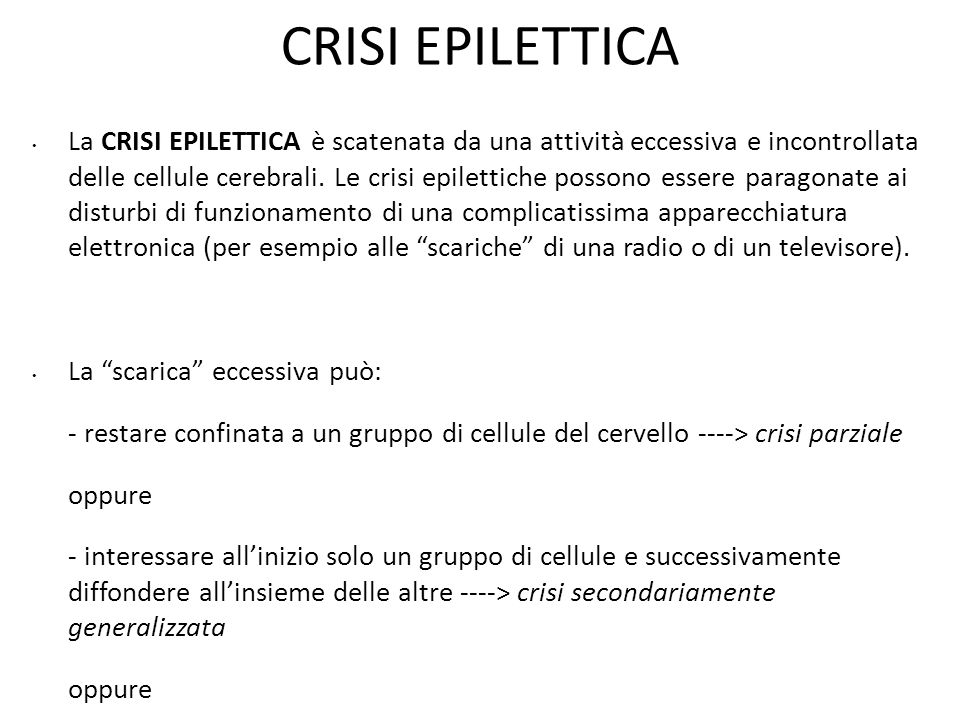 CRISI EPILETTICA