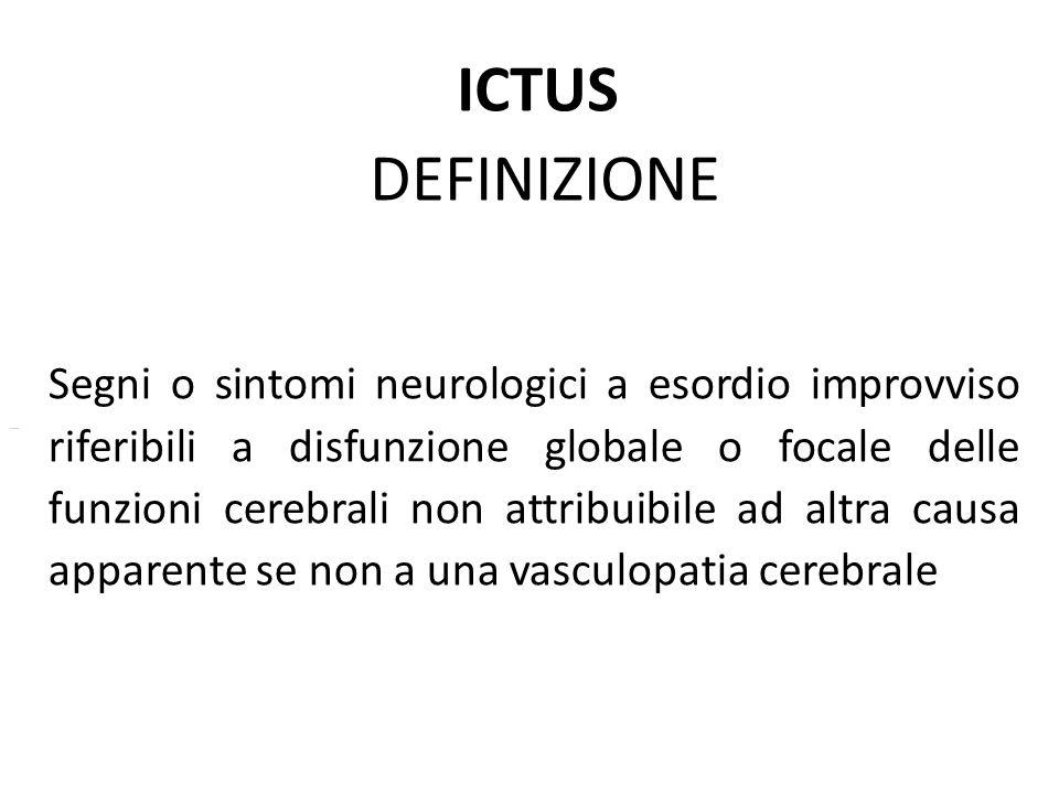 ICTUS DEFINIZIONE.