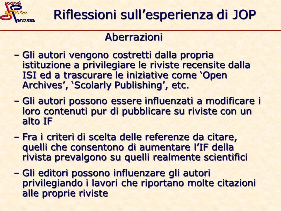 Riflessioni sull'esperienza di JOP