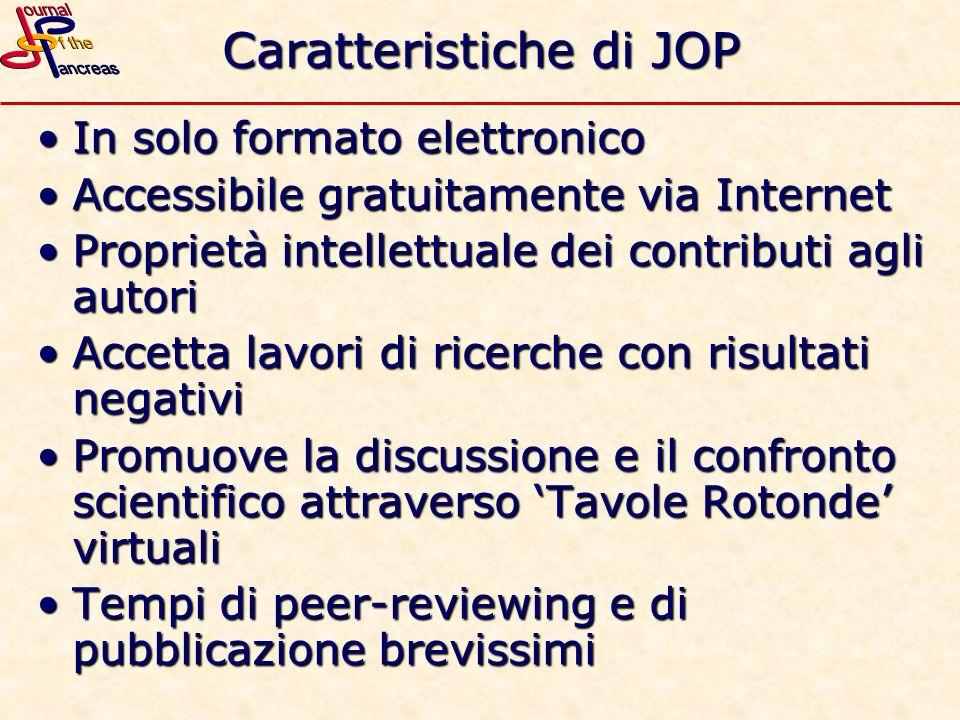 Caratteristiche di JOP