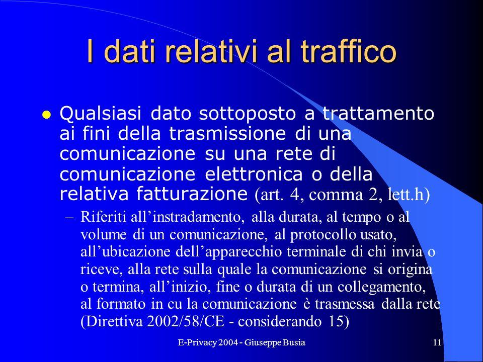 I dati relativi al traffico