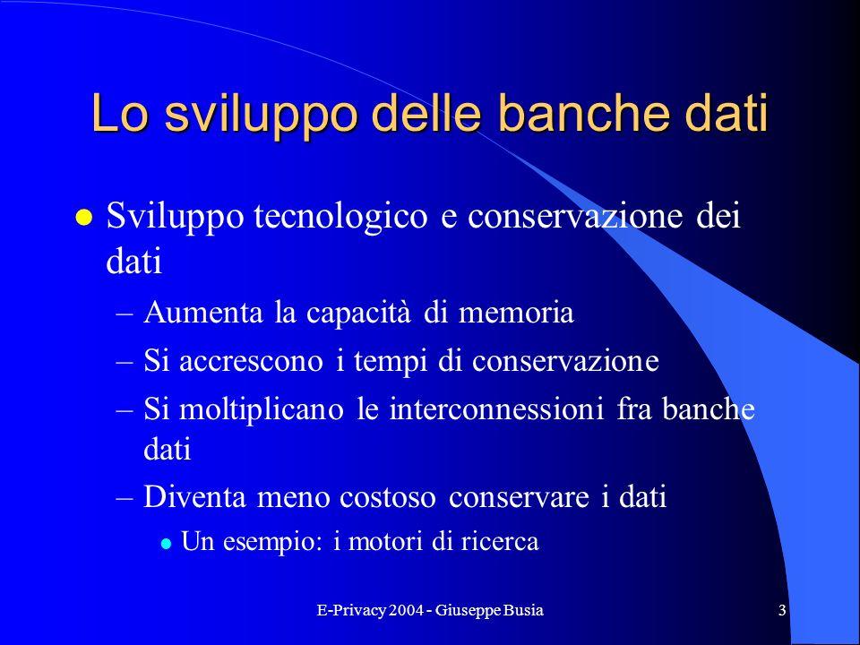 Lo sviluppo delle banche dati