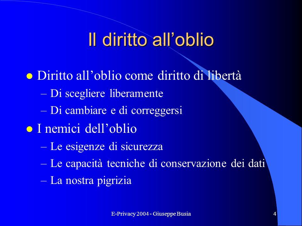 E-Privacy 2004 - Giuseppe Busia