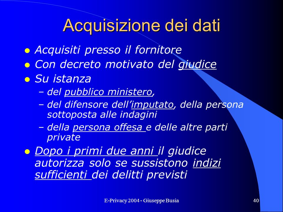 E-Privacy 2004 - Giuseppe Busia