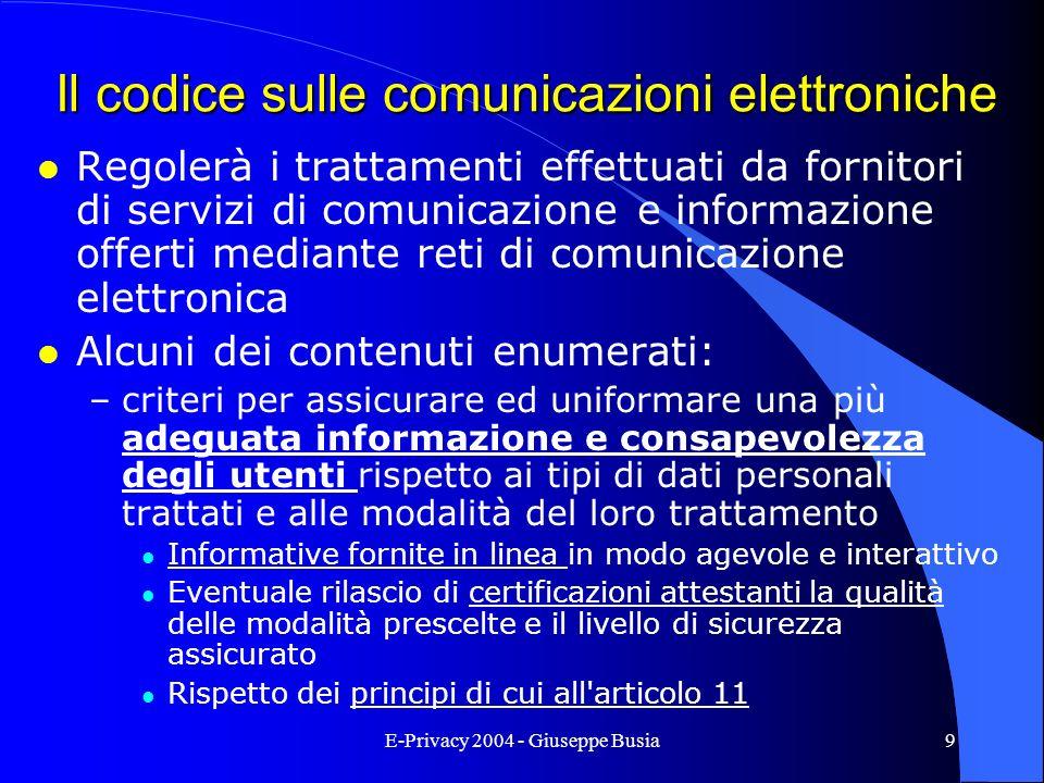 Il codice sulle comunicazioni elettroniche