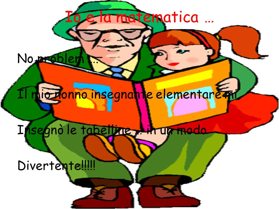 Io e la matematica … No problem ….