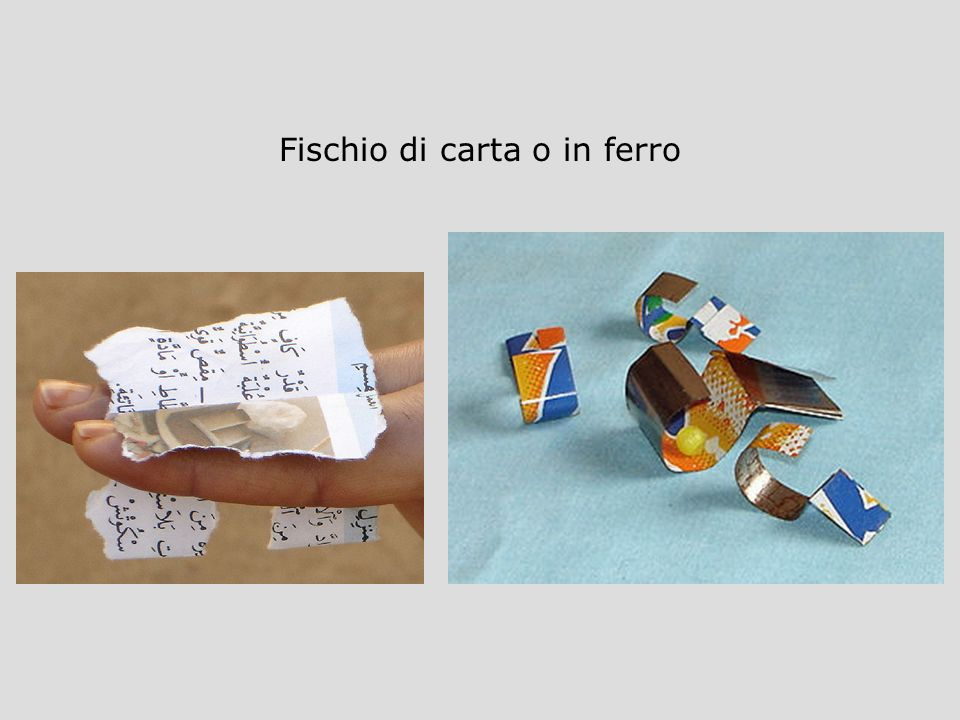 Fischio di carta o in ferro