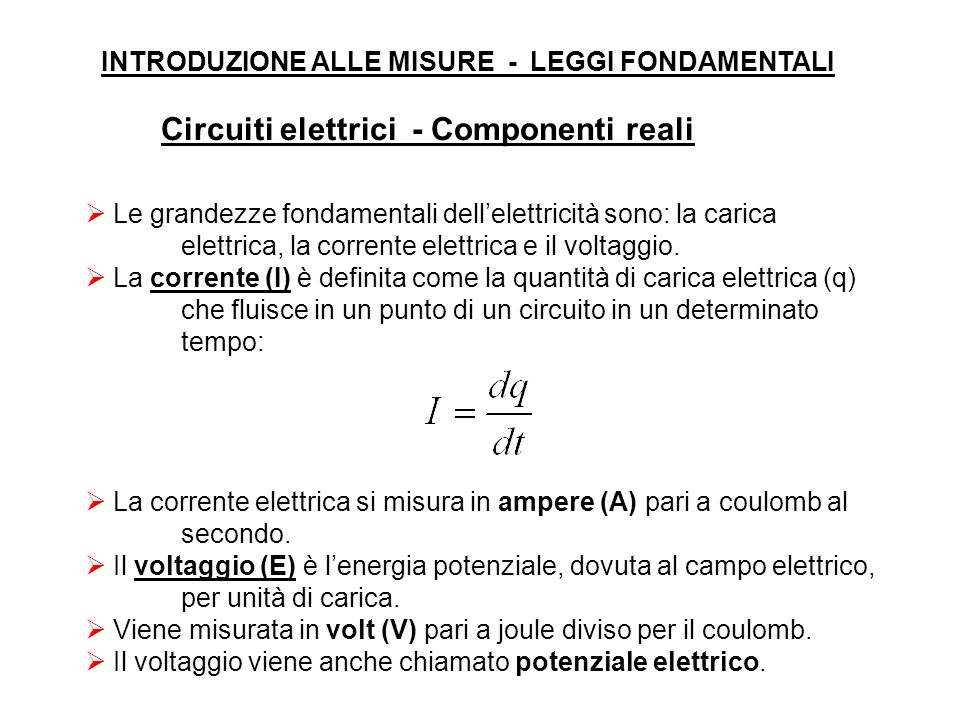 Circuiti elettrici - Componenti reali