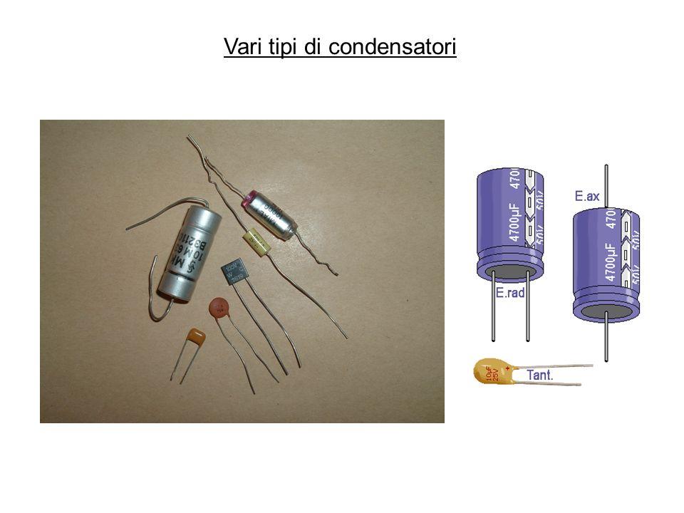Vari tipi di condensatori