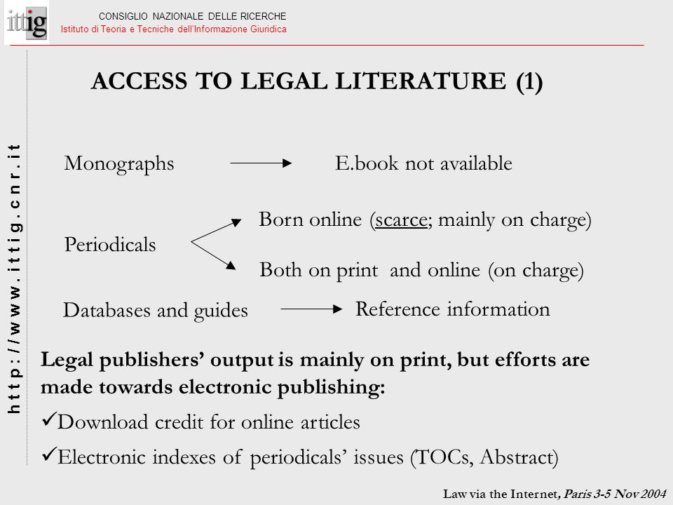 ACCESS TO LEGAL LITERATURE (1)