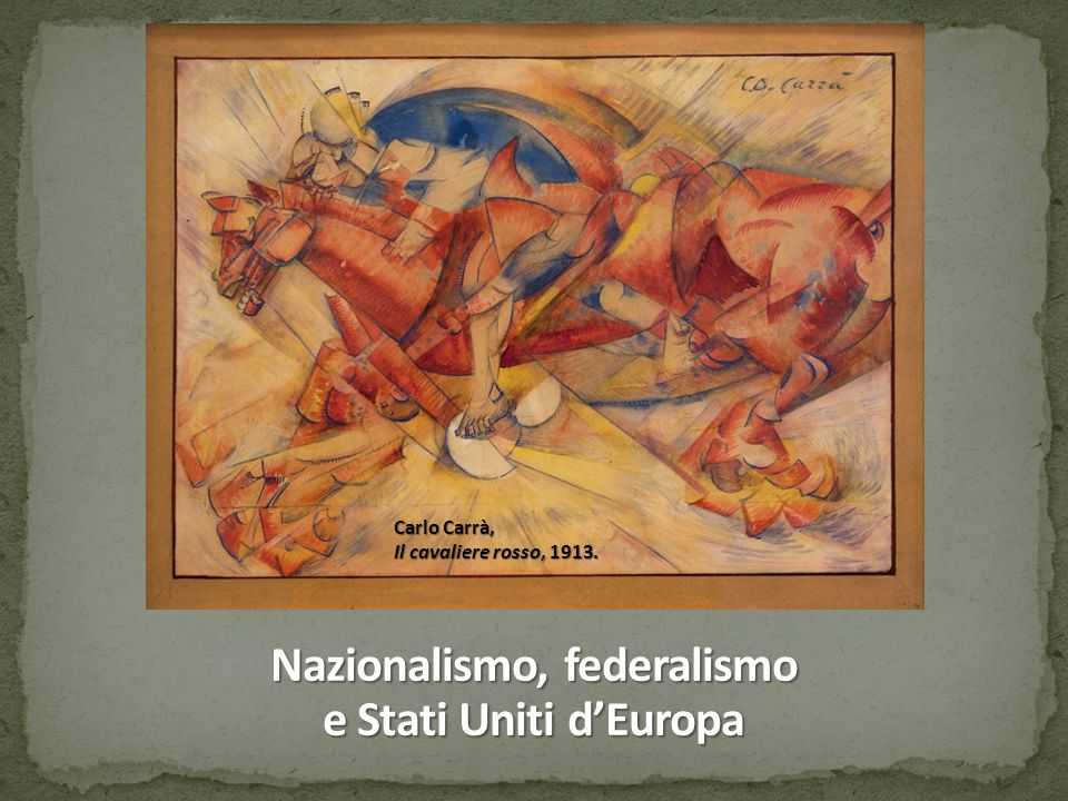 Nazionalismo, federalismo