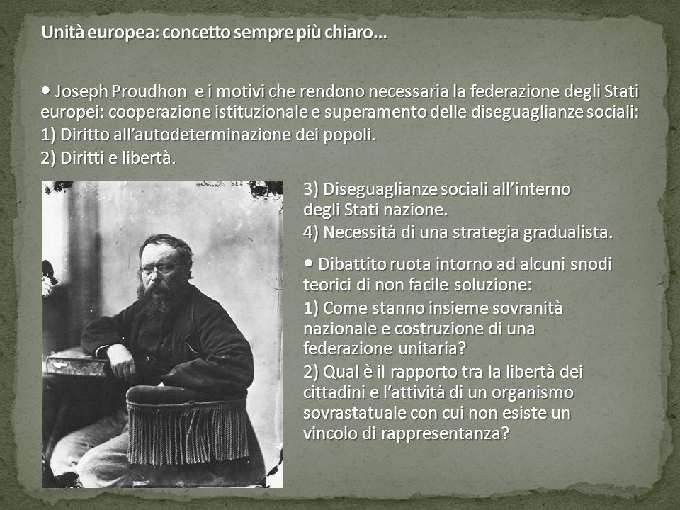 Unità europea: concetto sempre più chiaro…