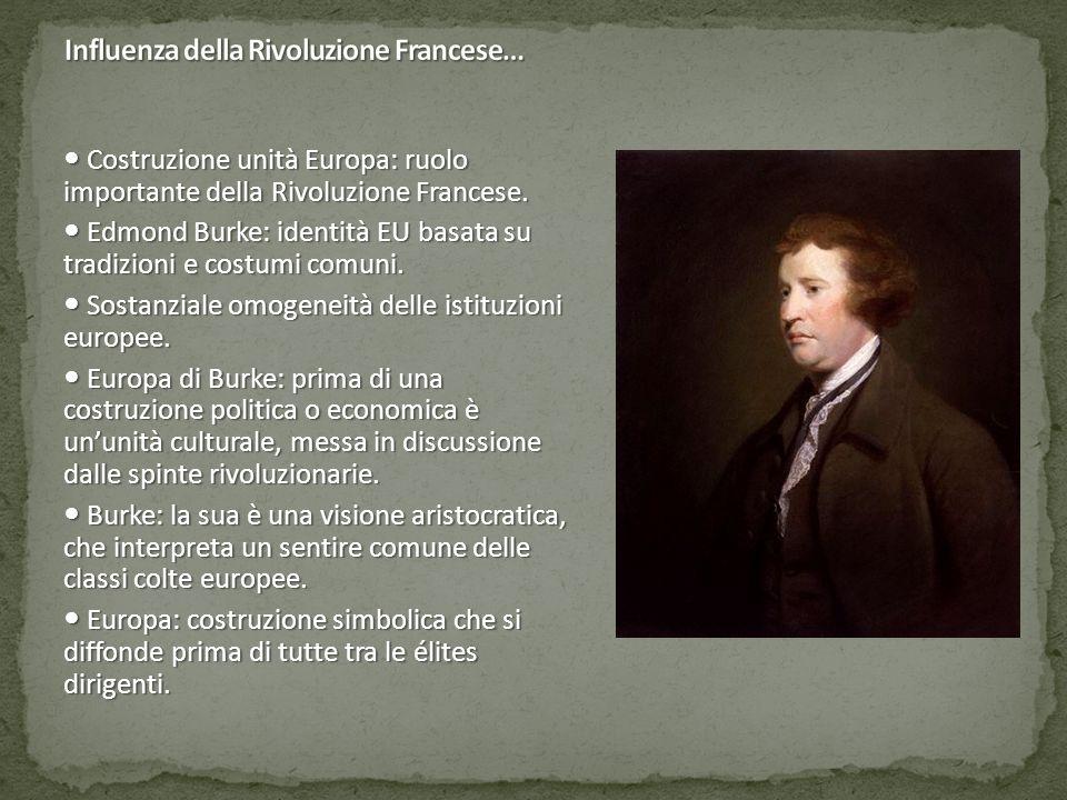 Influenza della Rivoluzione Francese…