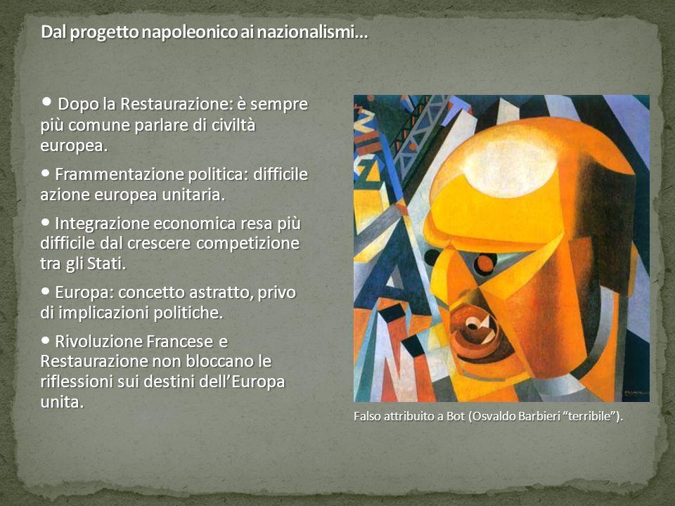 Dal progetto napoleonico ai nazionalismi…