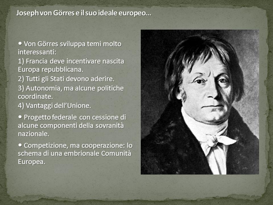 Joseph von Görres e il suo ideale europeo…