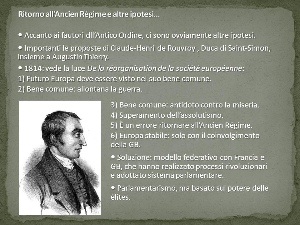 Ritorno all'Ancien Régime e altre ipotesi…