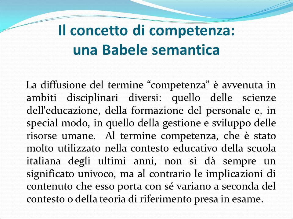 Il concetto di competenza: una Babele semantica