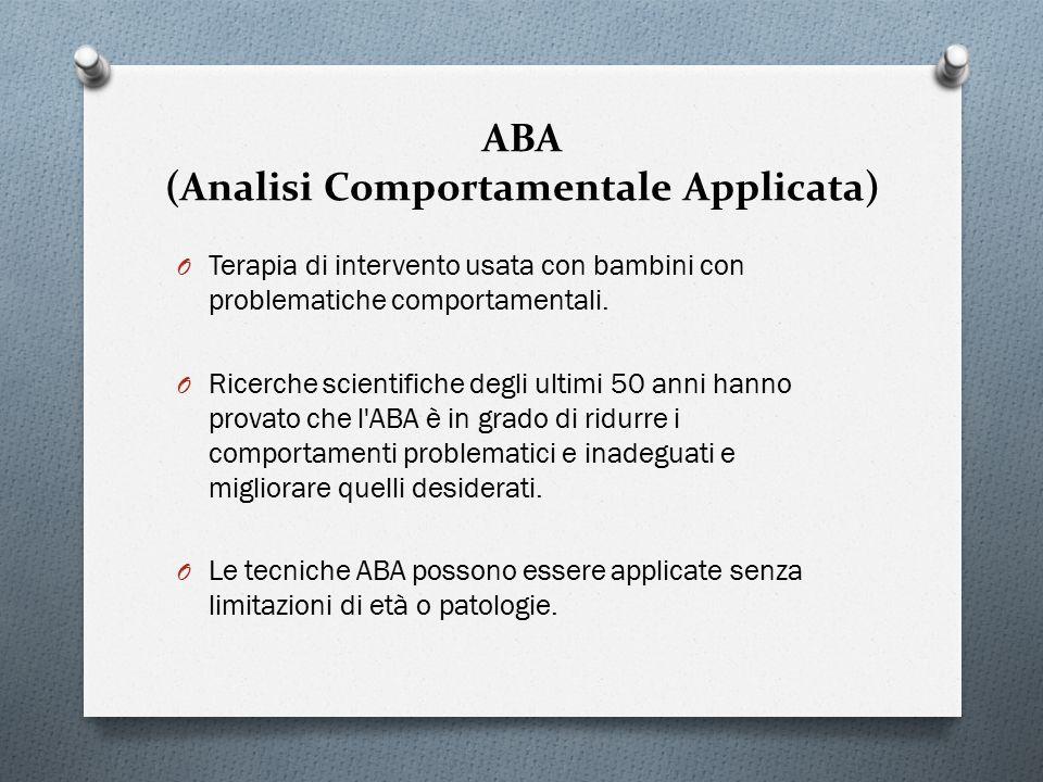 ABA (Analisi Comportamentale Applicata)