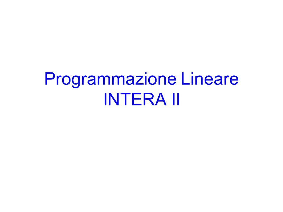 Programmazione Lineare INTERA II