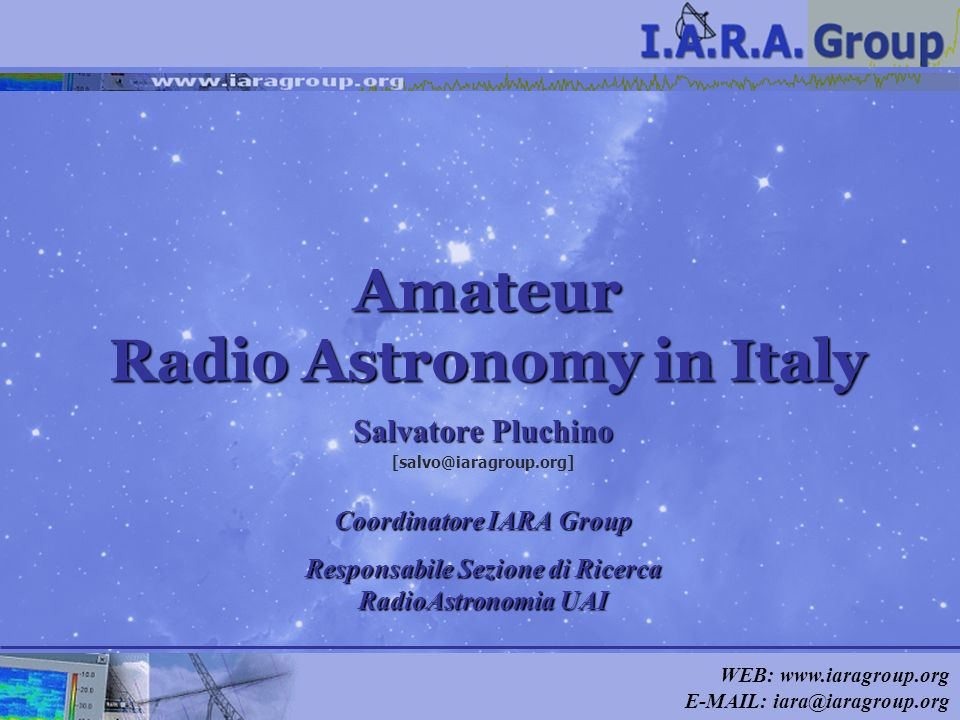 Amateur Radio Astronomy in Italy