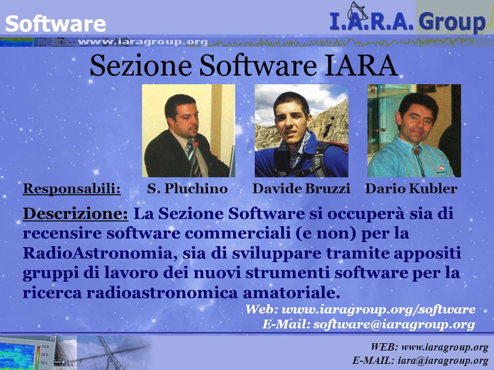 Sezione Software IARA Software