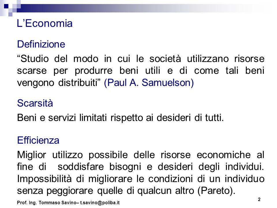 L'Economia Definizione