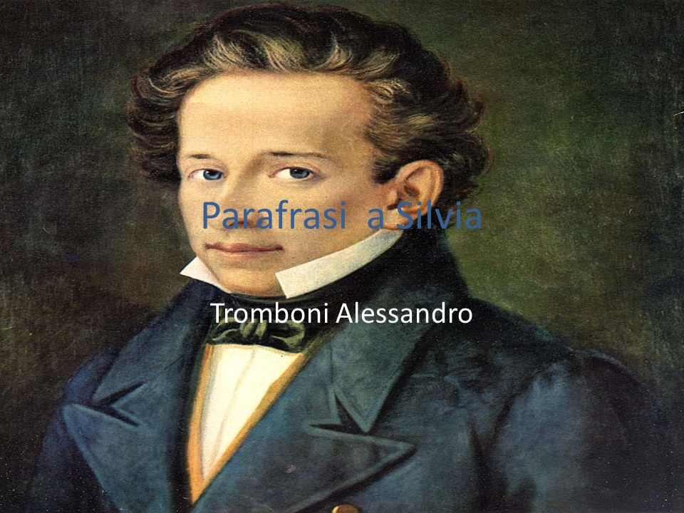 Parafrasi a Silvia Tromboni Alessandro