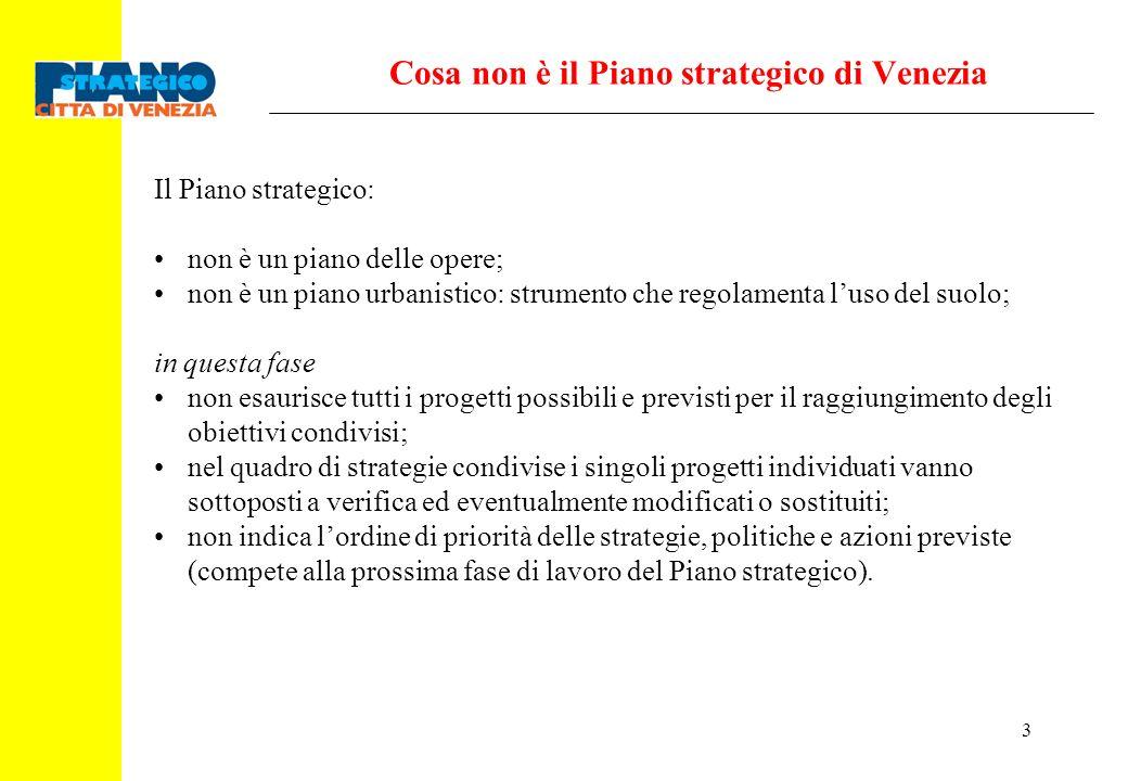 Cosa non è il Piano strategico di Venezia