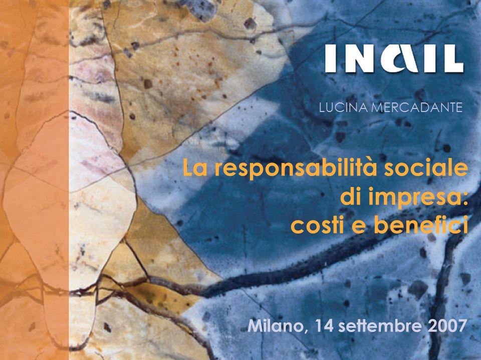 La responsabilità sociale di impresa: costi e benefici