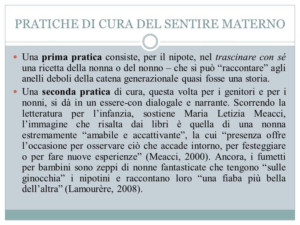 PRATICHE DI CURA DEL SENTIRE MATERNO