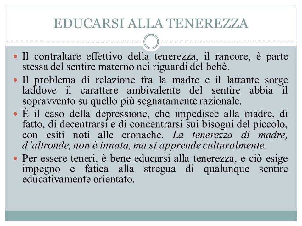 EDUCARSI ALLA TENEREZZA