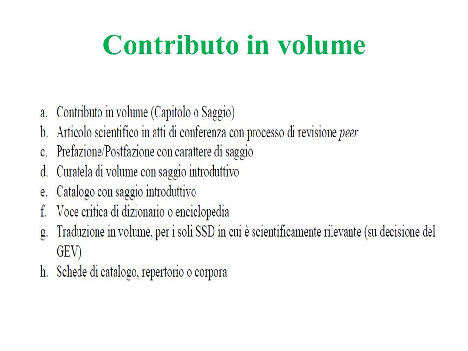 Contributo in volume