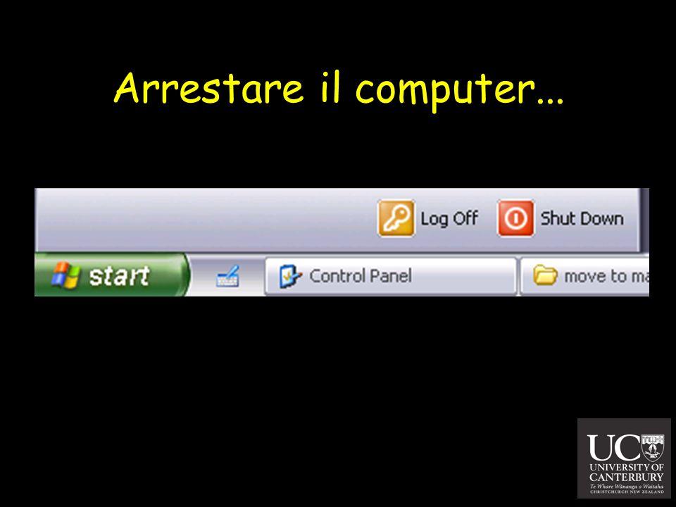 Arrestare il computer...