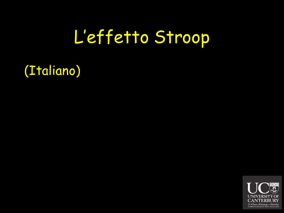 L'effetto Stroop (Italiano)