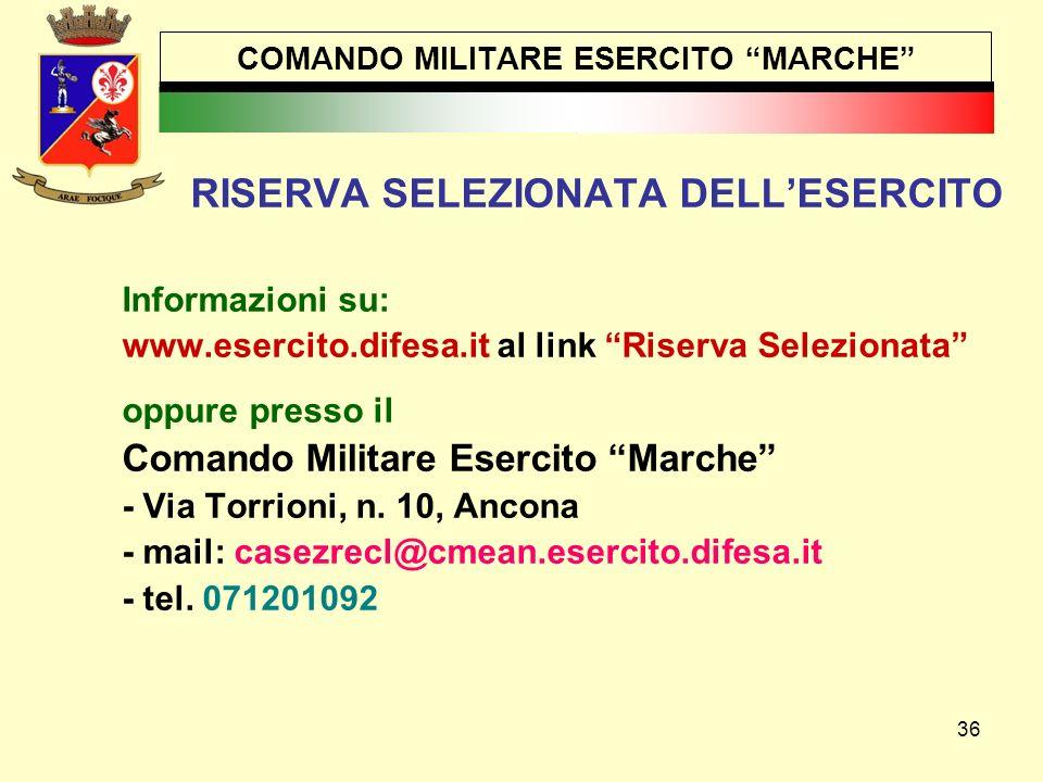 COMANDO MILITARE ESERCITO MARCHE