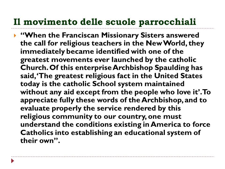 Il movimento delle scuole parrocchiali
