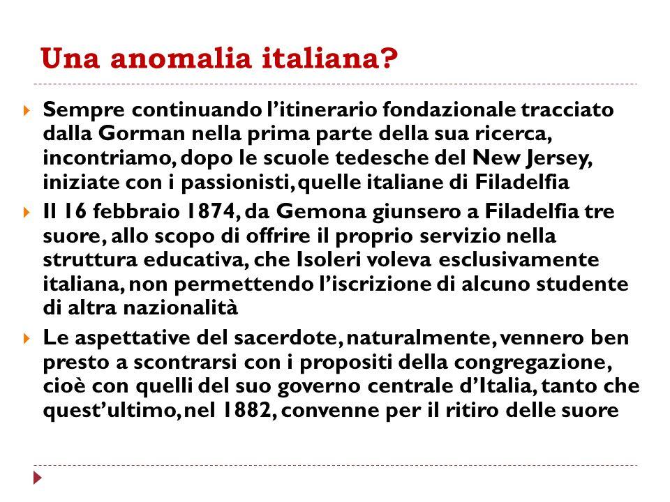 Una anomalia italiana