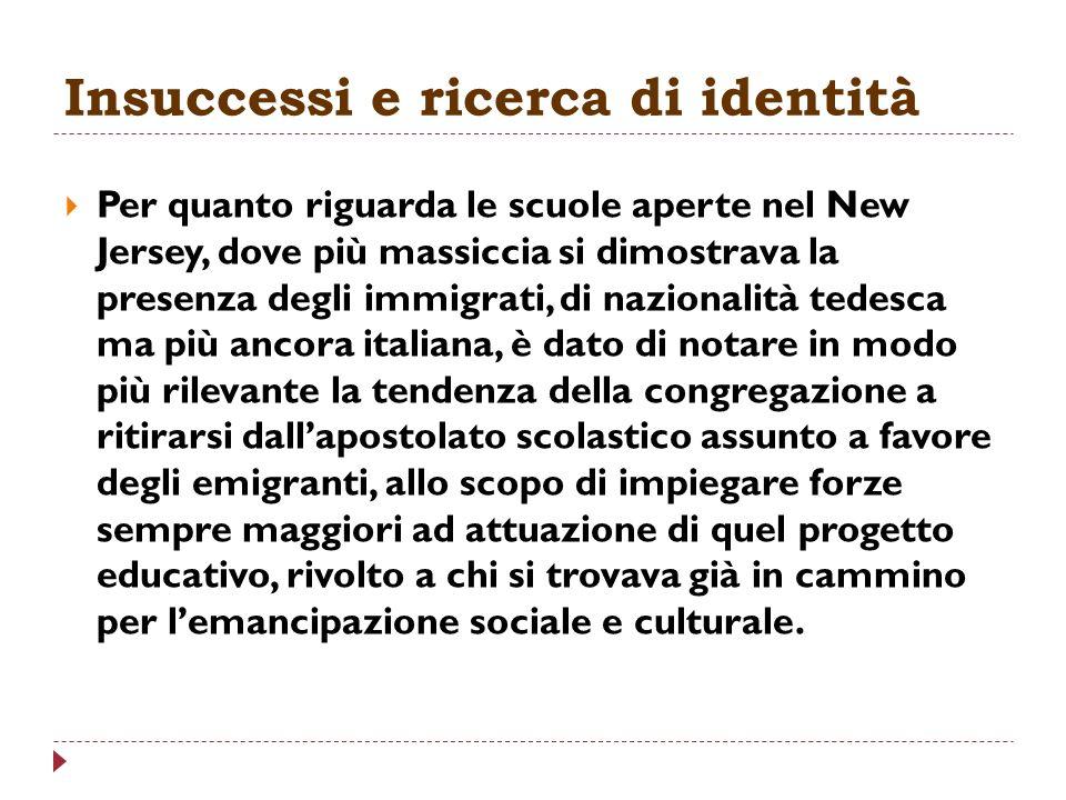 Insuccessi e ricerca di identità