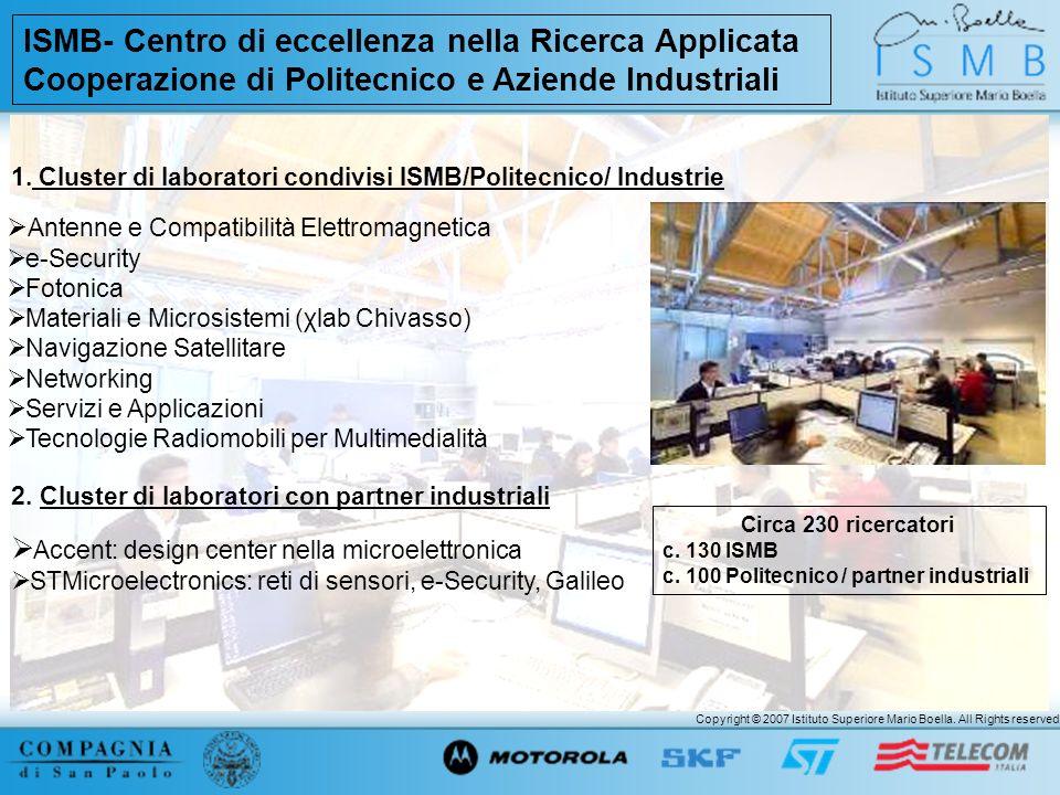 ISMB- Centro di eccellenza nella Ricerca Applicata Cooperazione di Politecnico e Aziende Industriali