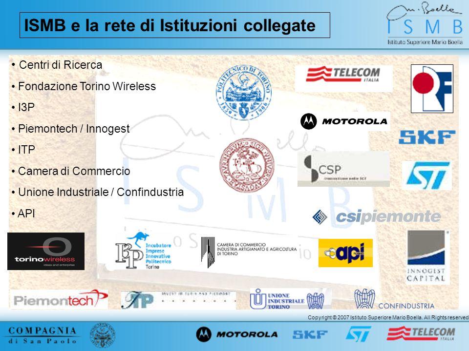 ISMB e la rete di Istituzioni collegate