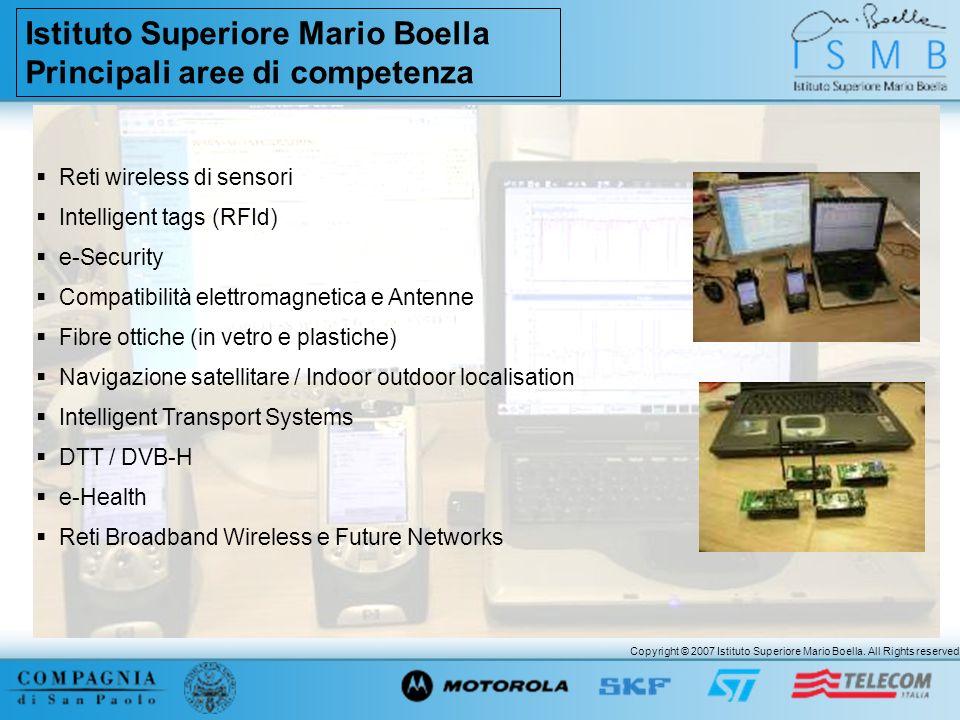 Istituto Superiore Mario Boella Principali aree di competenza